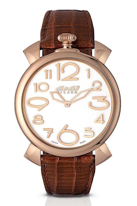 Manuale Thin 46mm rose gold plated - 5091.06