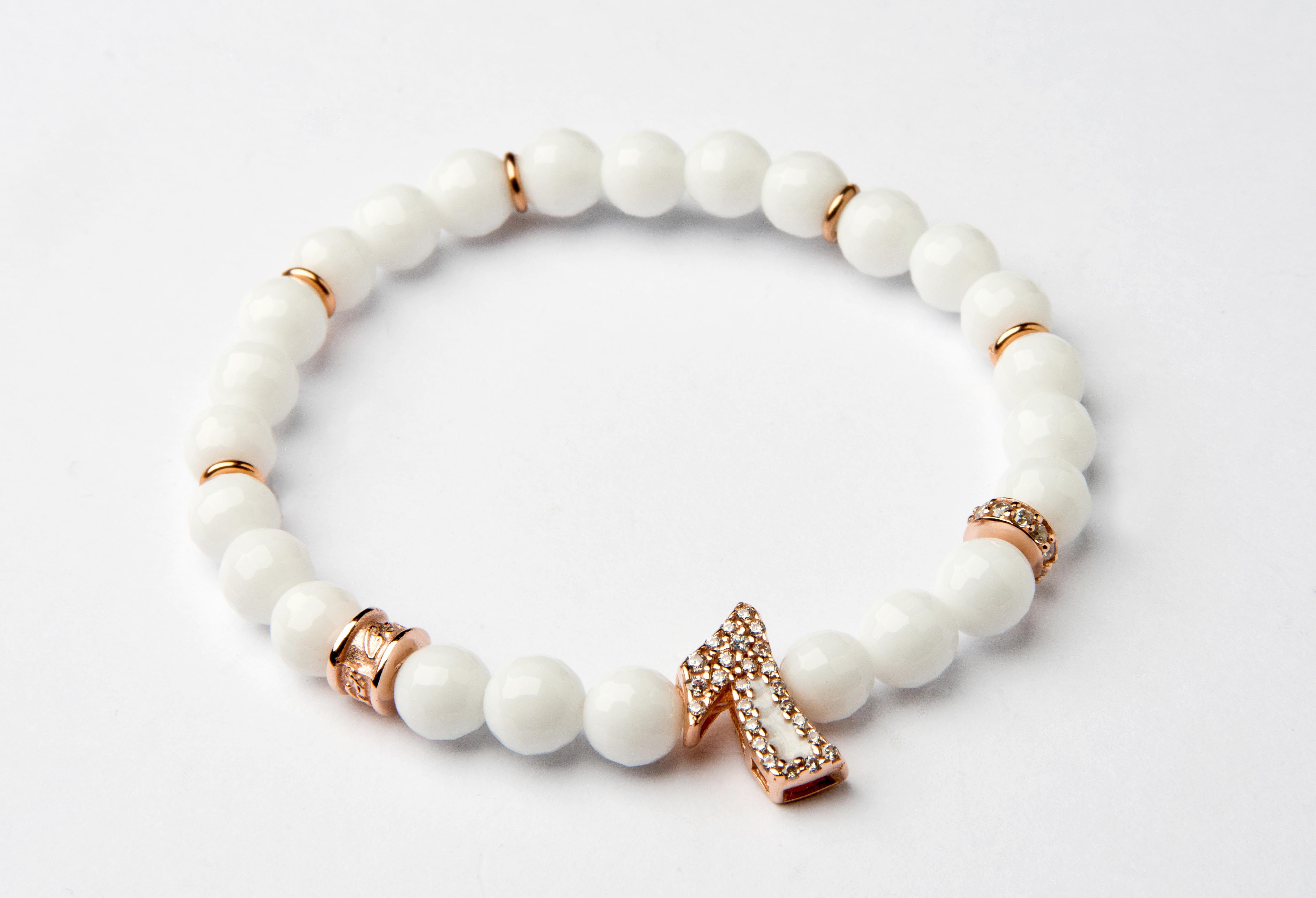 Number: 7 Rose Gold, Mother Of Pearl, Ematite - 7RGWH