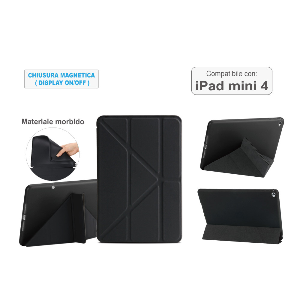 Custodia magnetica nera per iPad mini4