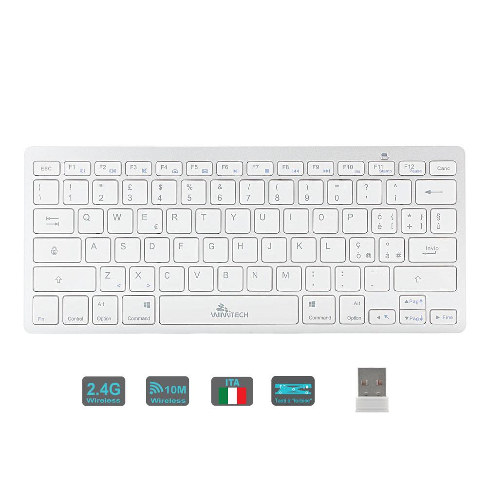 Mini tastiera wireless 2.4G bianco